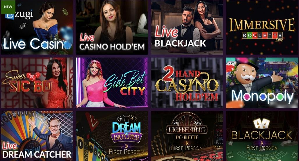il live casino di malina offre moltissime varianti di gioco