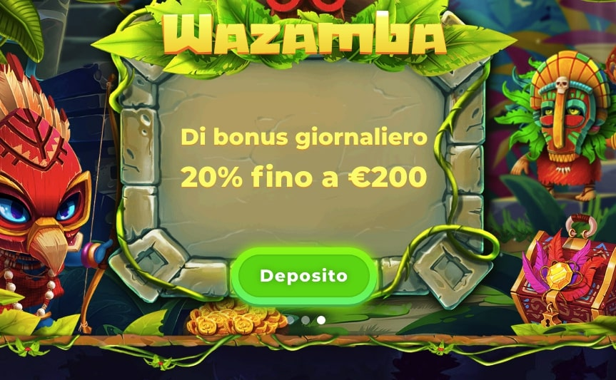 WAZAMBA CASINO Screenshot