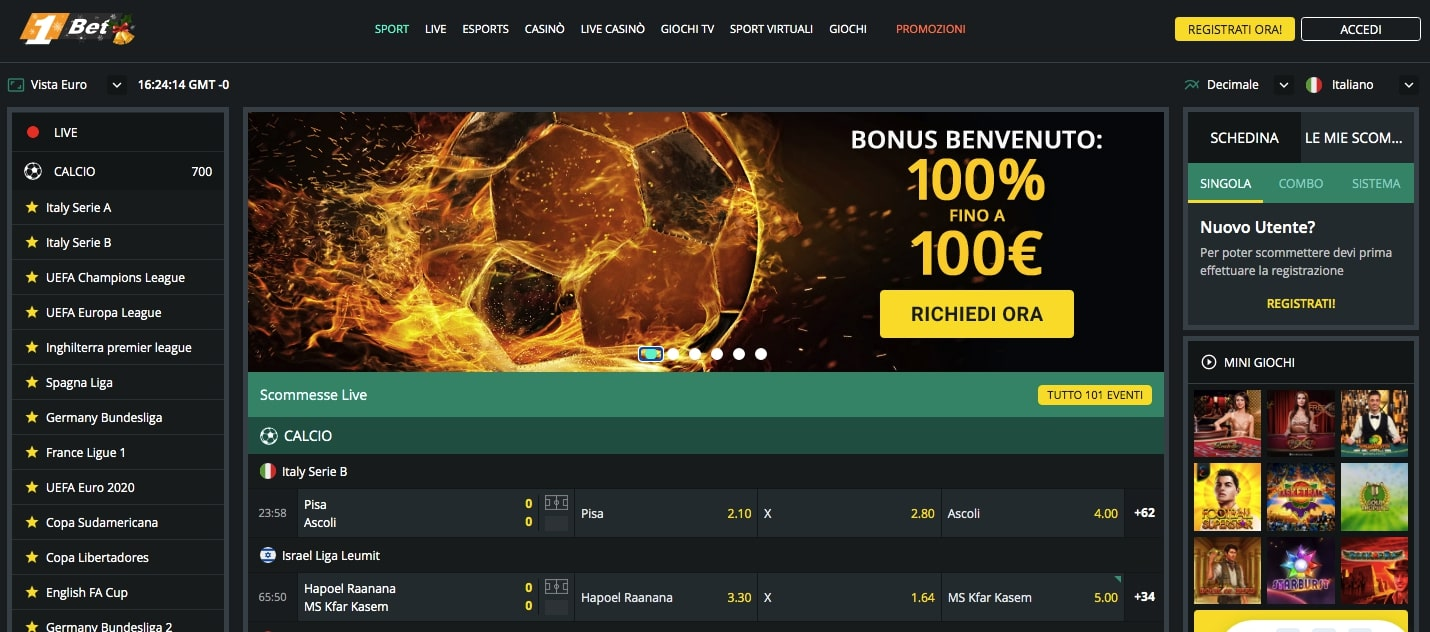 1Bet Scommesse Screenshot